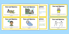Guided Reading Skills Task Cards Fact and Opinion