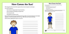 Here Comes the Sun Activity Sheet