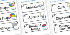 Panda Themed Editable Classroom Resource Labels