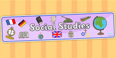 Social Studies Display Banner