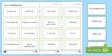 * NEW * Opinion Phrases Matching Cards French