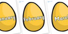 Months of the Year on Golden Egg