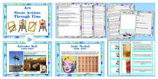 KS2 Art Great Artists Through Time Lesson Teaching Pack