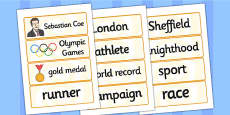 Sebastian Coe Word Cards
