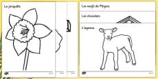 Easter Colouring Images French
