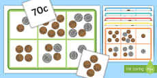 Money Bingo to 1 Dollar Using 10c, 20c, 50c coins