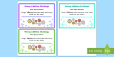 Adding Coins Maths Challenge Cards