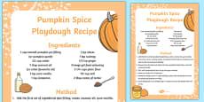 Pumpkin Spice Playdough Recipe
