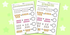 The Lion And The Mouse Up to 20 Addition Sheet