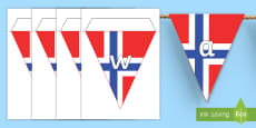 * NEW * Norway Display Bunting