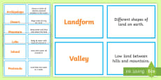 * NEW * Landforms Concentration Matching Game