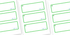 Emerald Themed Editable Drawer-Peg-Name Labels (Blank)