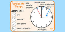 Italian Time Word Mat