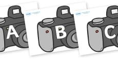 A-Z Alphabet on Cameras