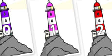 Numbers 0-50 on Lighthouses