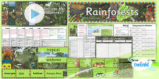 PlanIt - Geography Year 3 - Rainforests Unit Pack