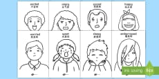 * NEW * Our Emotions Colouring Pages English/Mandarin Chinese