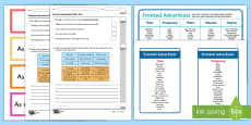 * NEW * Fronted Adverbials Resource Pack
