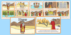 Life of Moses Story Sequencing (4 per A4)