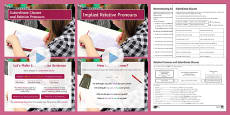 Subordinate Clauses and Relative Pronouns Resource Pack