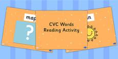 CVC Words Reading PowerPoint Activity