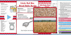 Little Red Hen Bread Rolls EYFS Adult Input Plan and Resource Pack