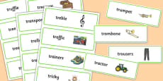Two Syllable TR Word Cards