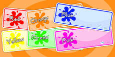 Color Themed Drawer Peg Name Labels