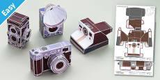 Enkl Vintage Camera Paper Model Printables