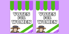 Suffragettes Votes for Women Roleplay Protest Poster
