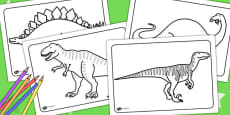 Dinosaurs Colouring Sheets