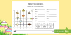 * NEW * Easter Themed Coordinates Activity Sheet