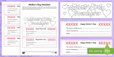 CfE Mother's Day Vouchers Activity Sheet