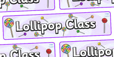 Lollipops Themed Classroom Display Banner