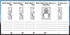Write About Your Day as a Superhero Activity Sheet