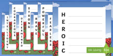 Heroic Qualities Acrostic Poem