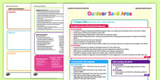 Outdoor Sand Area Continuous Provision Plan Posters Nursery FS1