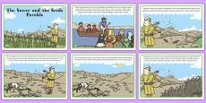 The Sower and the Seeds Parable Story Cards
