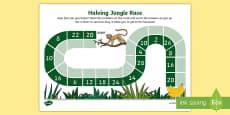 Halving Jungle Race Activity Sheet