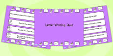 Letter Writing PowerPoint Quiz