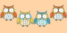 A-Z Alphabet on Superb Owls