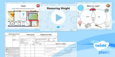 * NEW * PlanIt Y1 Measurement Lesson Pack Measuring Weight (1)