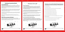 Christmas Around the World Comprehension Sheet Romanian Translation
