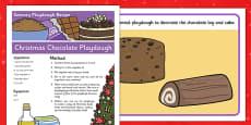 Christmas Chocolate Sensory Playdough Recipe