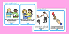 How To Be a Good Friend Cards Romanian Translation