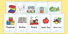 Nursery / Foundation Stage 1 A4 Visual Timetable Cards