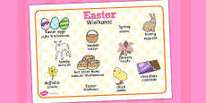 Easter Word Mat Polish Translation
