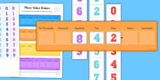 Place Value Maths Sliders Including Tenths and Hundredths