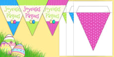 Easter Party Happy Easter Bunting French