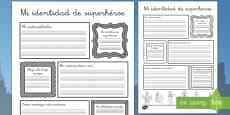Ficha de actividad: Mi identidad de superhéroe